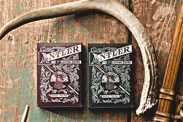 Antler Playing Cards (Deep Maroon) by Dan and Dave