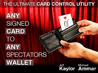 Any Signed Card to Any Spectator's Wallet[BLACK] by Jeff Kaylor