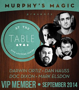 At the Table Live Lecture - 2014-09 (MMSDL)