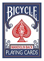 Bicycle 809 Mandolin Back (Blue) by USPCC