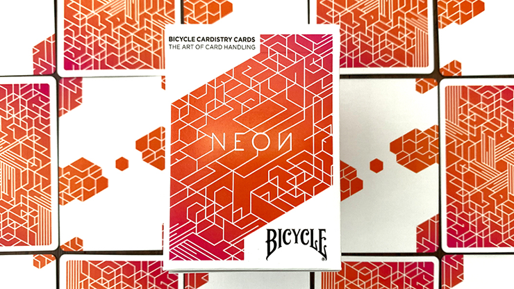 Bicycle Neon Cardistry (Orange Bump) Playing Cards