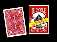 Bicycle 100% Plastic Cards (Red)