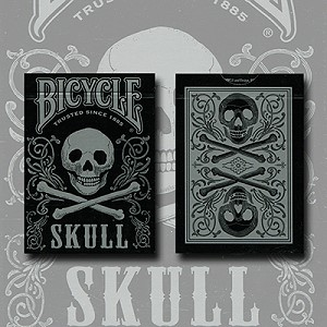 Bicycle Skull (Silver) by USPCC & Gambler's Warehouse