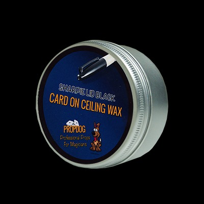 Card on Ceiling Wax 15g (Black) by David Bonsall and PropDog