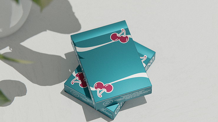 Cherry Casino (Tropicana Teal) Playing Cards by Pure Imagination Projects