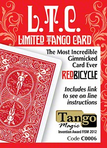 L.T.C. : Limited Tango Card (Red) by Tango