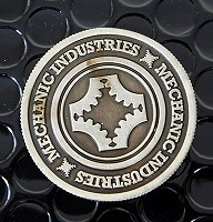 Mechanic Coin(Full Dollar/Gun Metal Grey) by Mechanic Industries<br /><span class=&quot;smallText&quot;>[COIN_MECHANIC_FULL_GMG]</span>