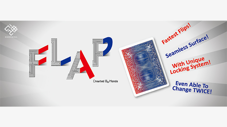 Modern Flap Card (Blue to Red/Red Back) by Hondo