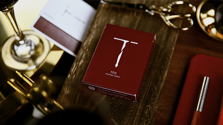 New T Playing Cards (Wine-Red)