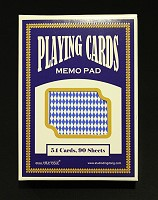 Playing Cards Memo Pad (Blue)