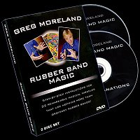 Rubber Band Magic (2DVD) by Greg Moreland<br /><span class=&quot;smallText&quot;>[DVD_RUBBERBANDMAGIC]</span>