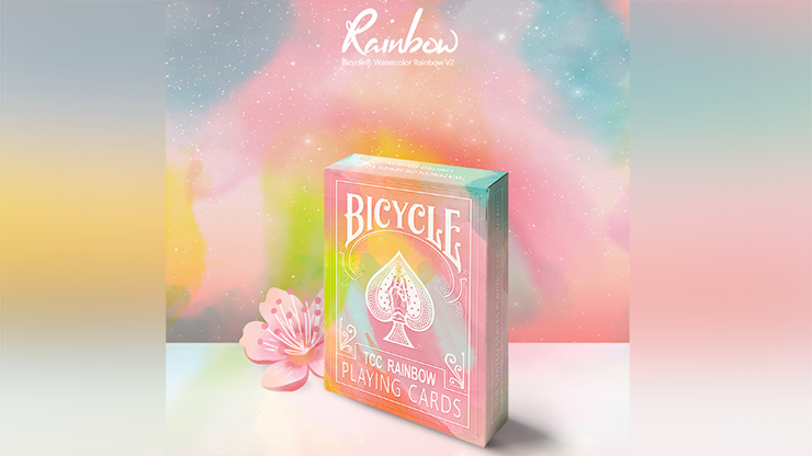 Bicycle TCC Watercolor Rainbow (Peach) Playing Cards by TCC