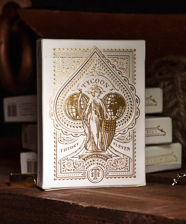Tycoon Playing Cards (Ivory) by Theory11<br /><span class=&quot;smallText&quot;>[DECK_TYCOON_IVORY]</span>