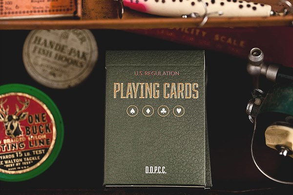 Vintage Plaid Playing Cards (Arizona Red) by Dan and Dave
