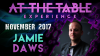 At The Table Live Lecture Jamie Daws November 15th 2017