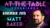At The Table Live Lecture Matt Baker November 6th 2019