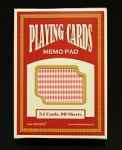 Playing Cards Memo Pad (Red)